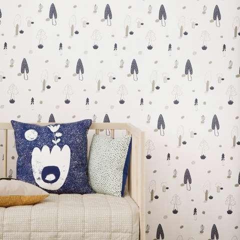forest wallpaper blue