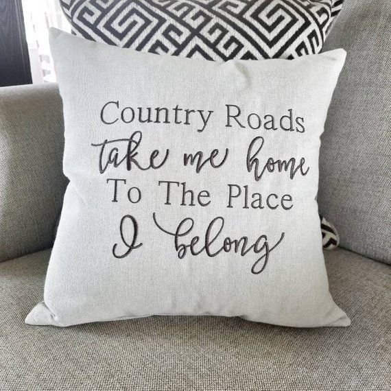 Country Music Decor, Country Music Quote, Country Music Lyrics, Country Decor Pillows, Country Home Decor pillows, John Denver Lyrics #musicdecor