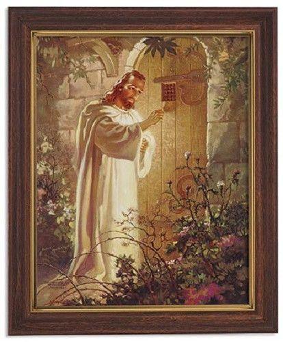 Jesus Knocking On Door Framed Print By Warner Sallman