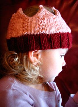 Loved Crown knitting Pattern, knitpicks someone make for Ella! I can't knot lol