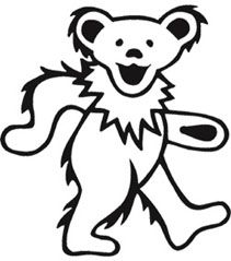 Jerry Bear Stencils Grateful Dead Bears Grateful Dead