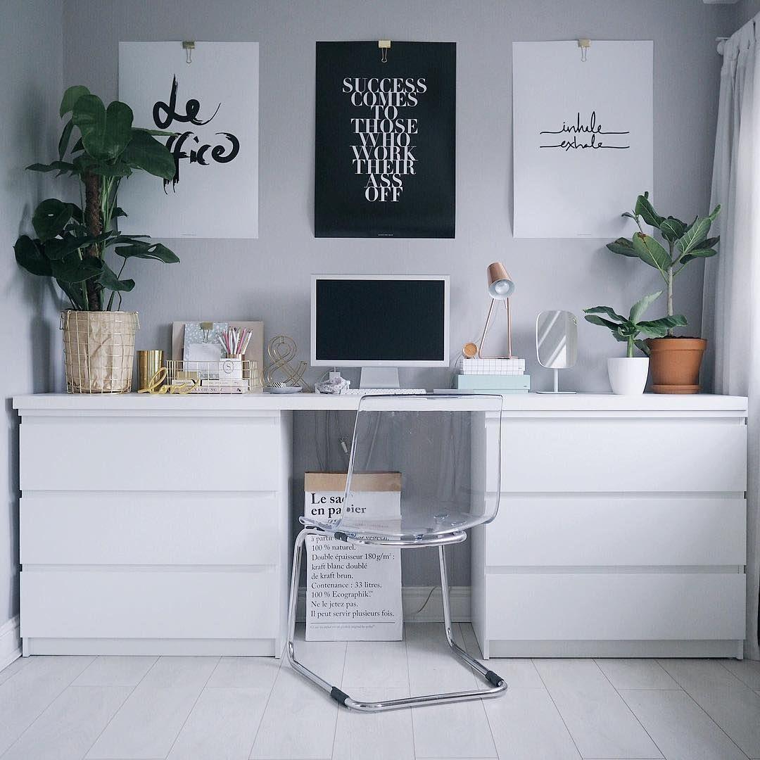 Two Ikea Malm Dressers As Trestles Olivianicolesilk Bedroom