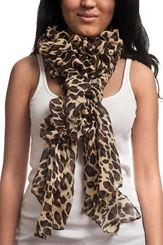 Ollie Leopard Ruffle Scarf