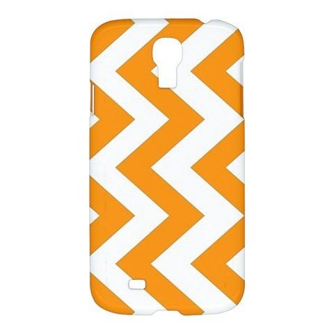 Orange Chevron Pattern Samsung Galaxy S4 S 4 Hardshell Case Cover