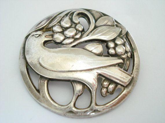 Georg Jensen Silver Bird Pin