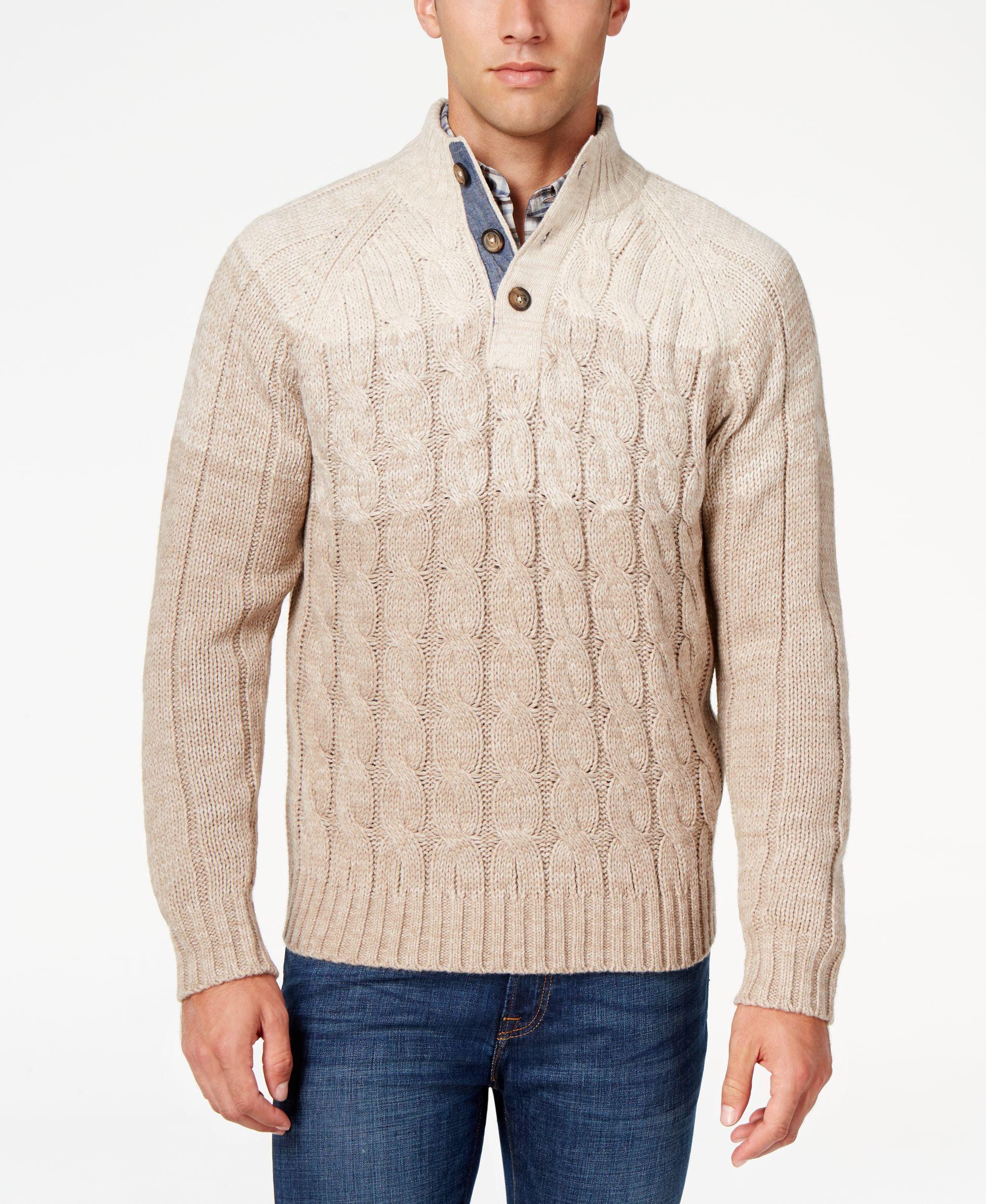 ff92d0e635a Weatherproof Vintage Men s Cable-Knit Sweater
