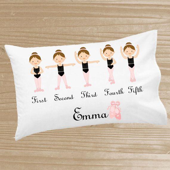 Personalized Kids Pillowcase Ballerina Pillowcase For Etsy Kids Pillow Cases Ballerina Room Ballerina Bedroom