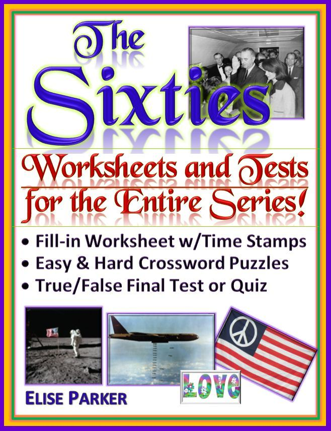 The Sixties Worksheets, Puzzles, and Test for ENTIRE SERIES ...
