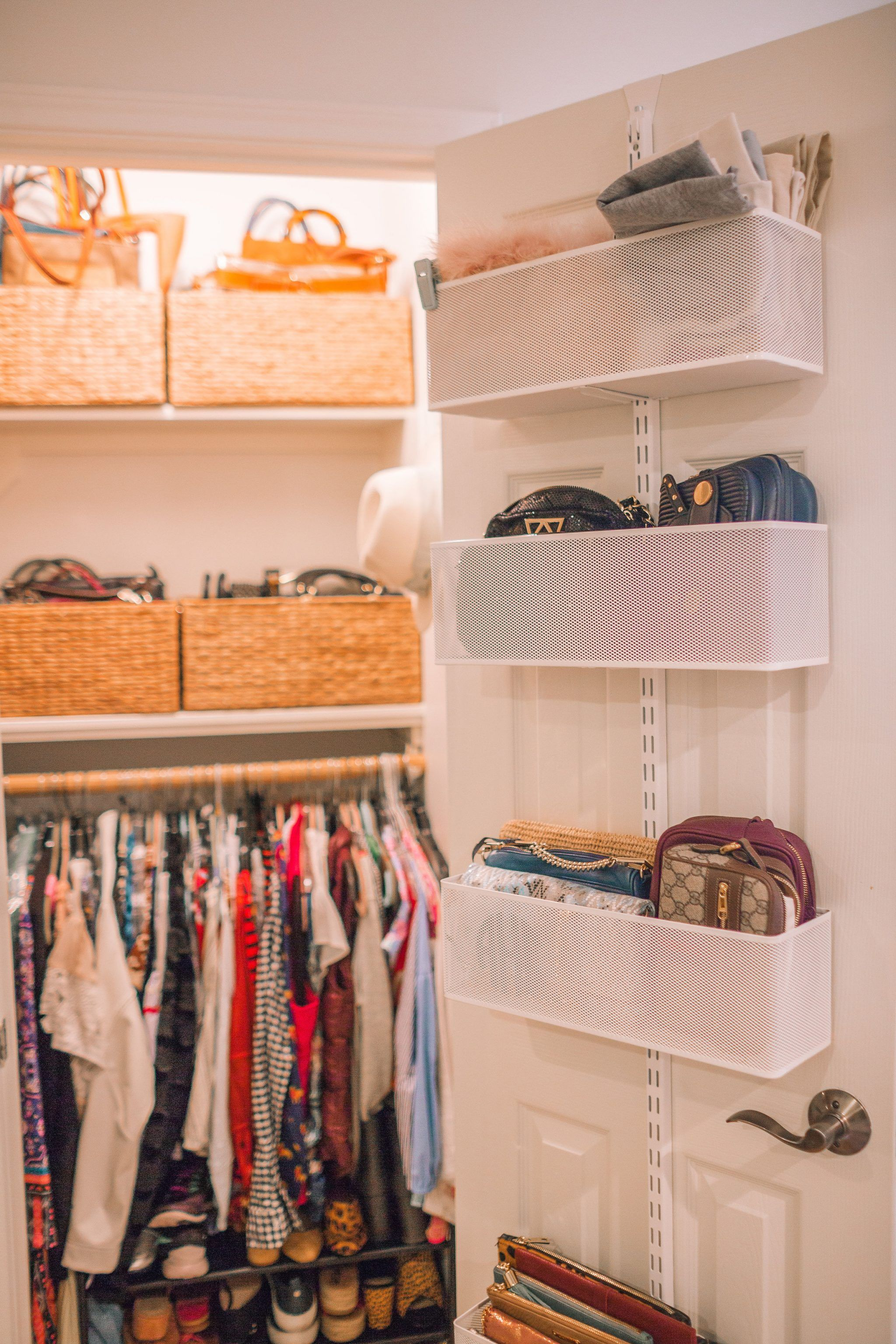 Organizing A Small Office Closet Before And After Adored By Alex Home Office Closet Closet Office Organization Closet Office