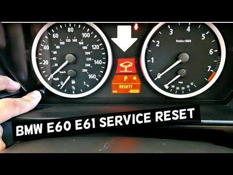 BMW E60 61 HOW TO RESET SERVICE BRAKE SERVICE, OIL SERVICE