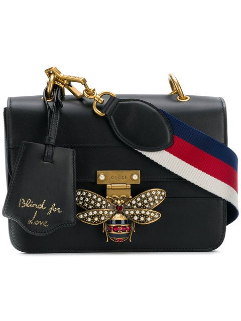 9412a805c575 Gucci Bee Logo Embellished Bag - Farfetch   Bags in 2019   Pinterest ...