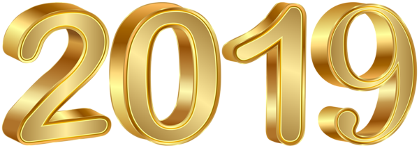 This png image 2019 Gold PNG Clipart Image, is available