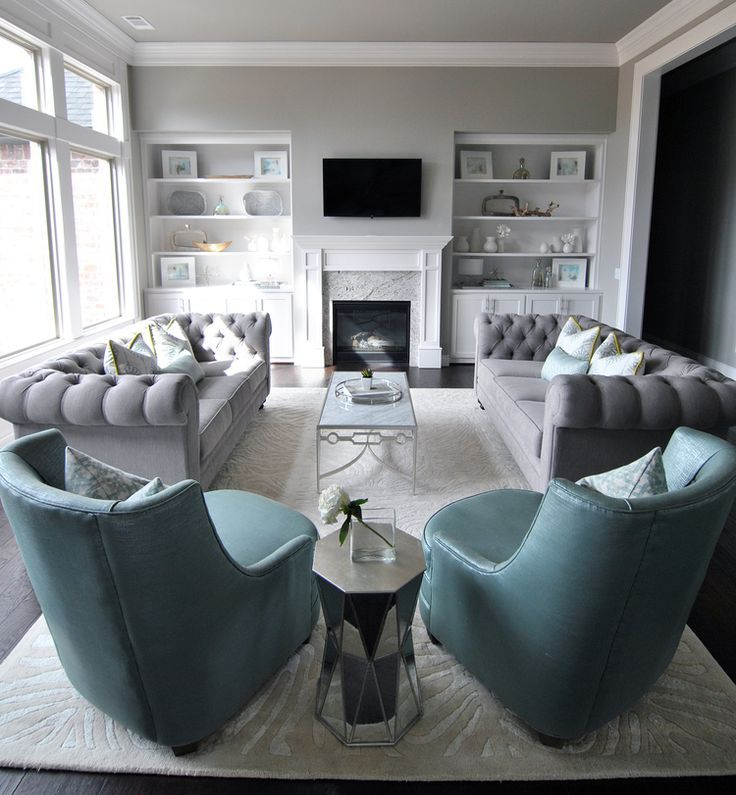 Image result for decorating with blue chesterfield sofa for Sitting furniture living room