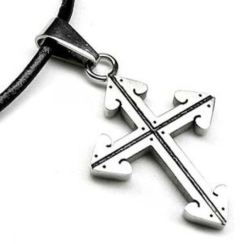 Four Arrows Stainless Steel Cross Necklace