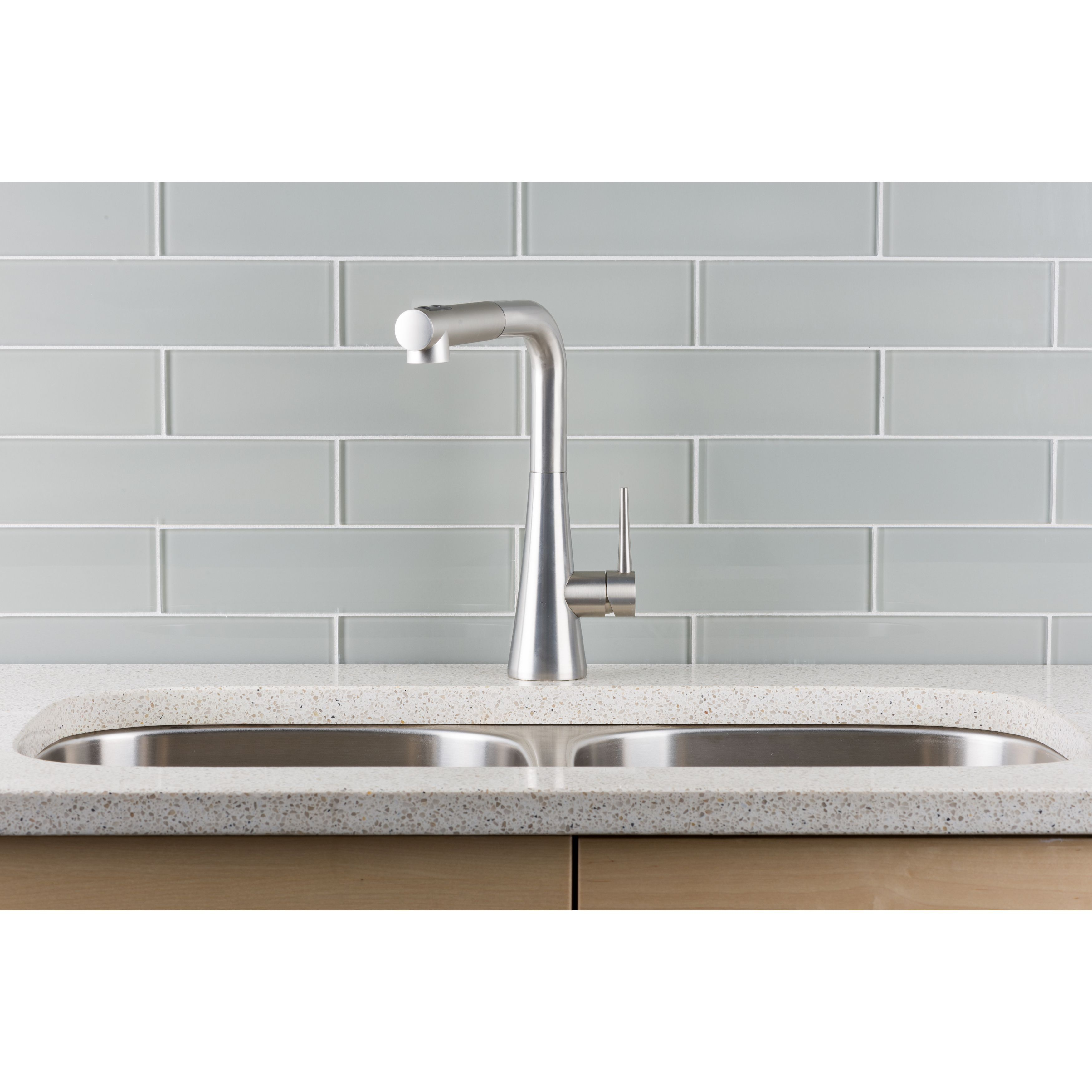 Hahn Contemporary Duo Stainless Steel Single Lever Pull Out Kitchen Faucet  (Single Lever Pull