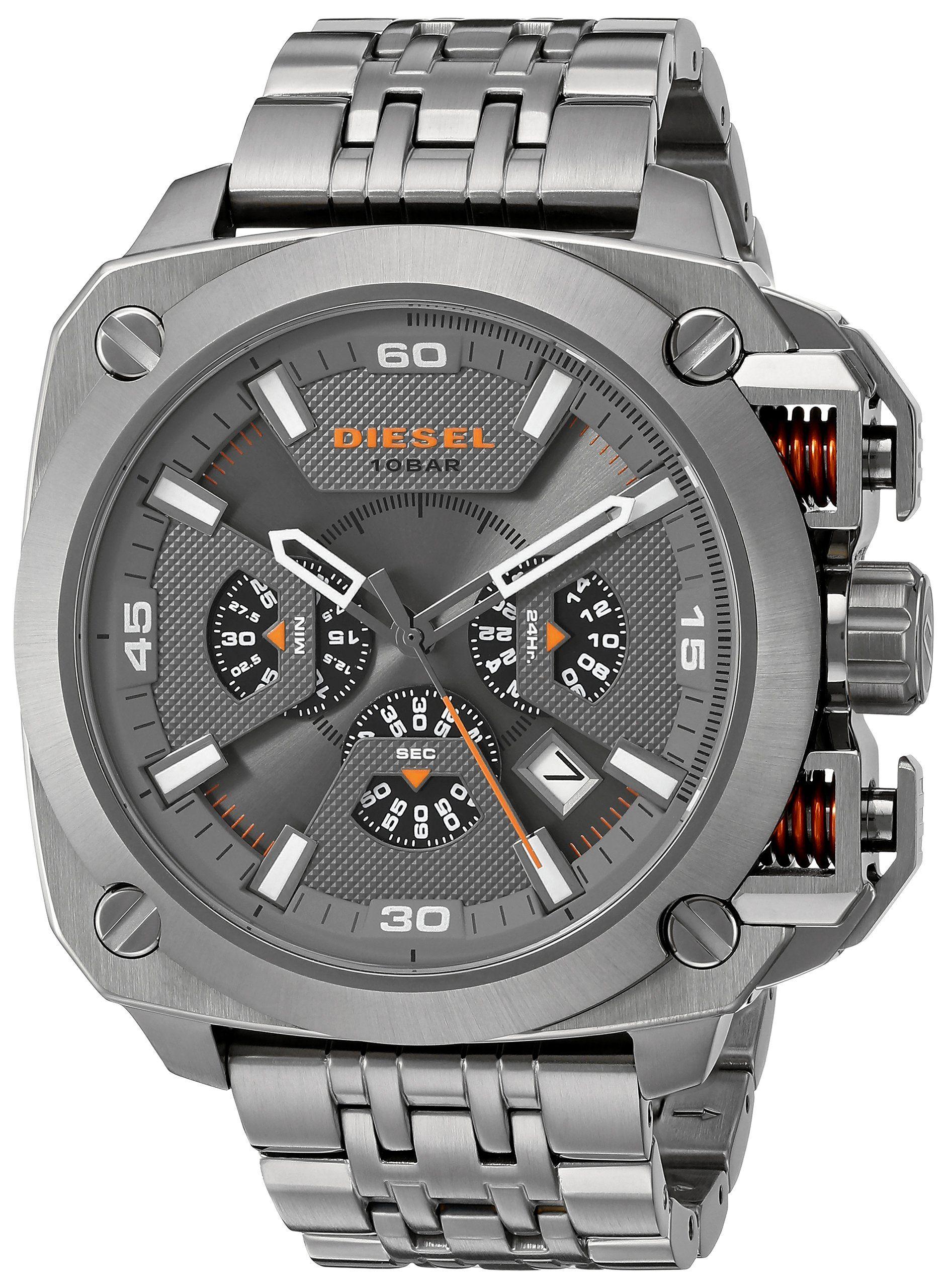 Diesel Men 39 S Dz7344 Analog Display Analog Quartz Grey Watch Watchs Pinterest Watches D