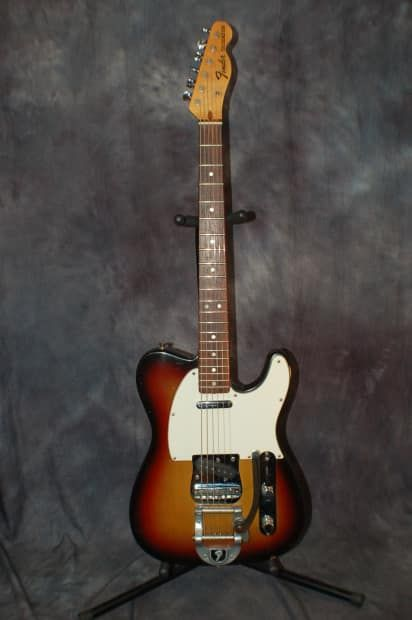 Today, Lawman Guitars is Presenting...A Super RARE 1971 Vintage Fender Custom Color Tele with Factory Bigsby Guitar with the original Fender Hardshell Case...  This guitar from 1971 is UBER RARE…Give us a call. Lawman Guitars. 515-864-6136