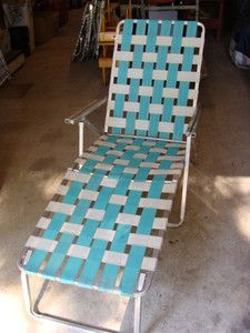 webbed chaise lounge chairs christopher knight home chair vintage retro folding aluminum patio lawn ebay