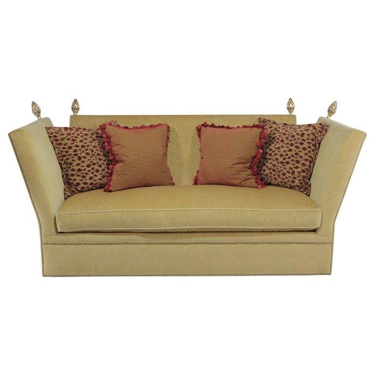 Sofa With Gold Acorn Finials