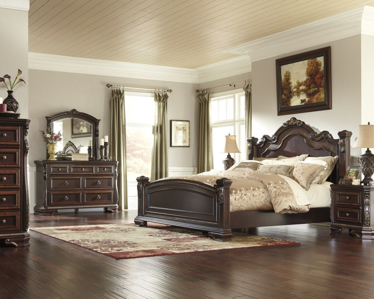 Overstock Bedroom Furniture Sets Ashley Furniture B678 Wendlowe King Bedroom Set High Point