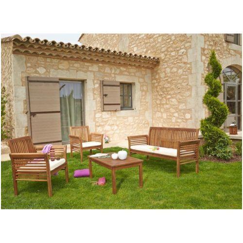 table de jardin en bois carrefour ...