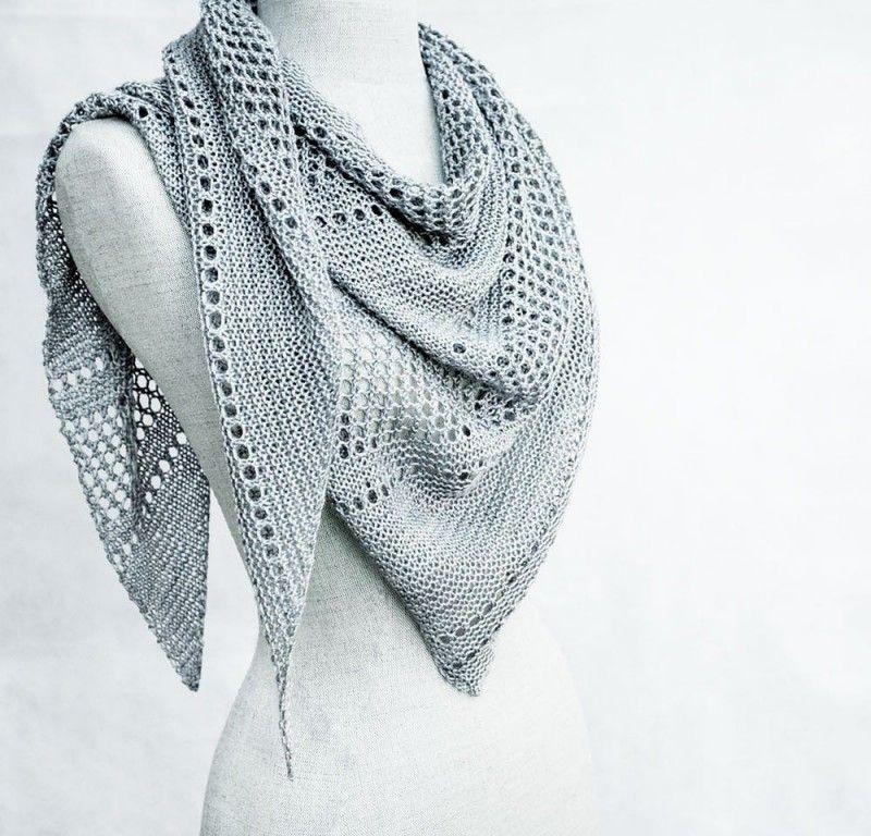 вязание пухового платка спицами для начинающих