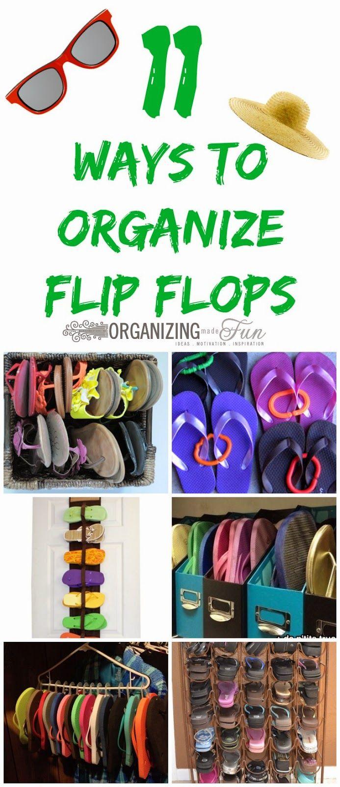e13d00901 11 Ways to organize flip flops    OrganizingMadeFun.com