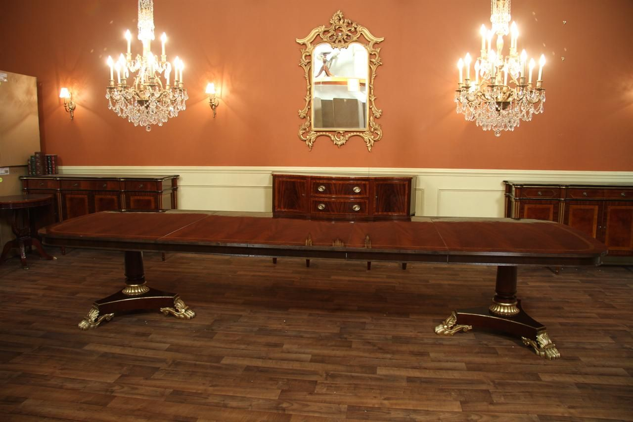 Extra Large Dining Table Long With 3 Leaves 13ft