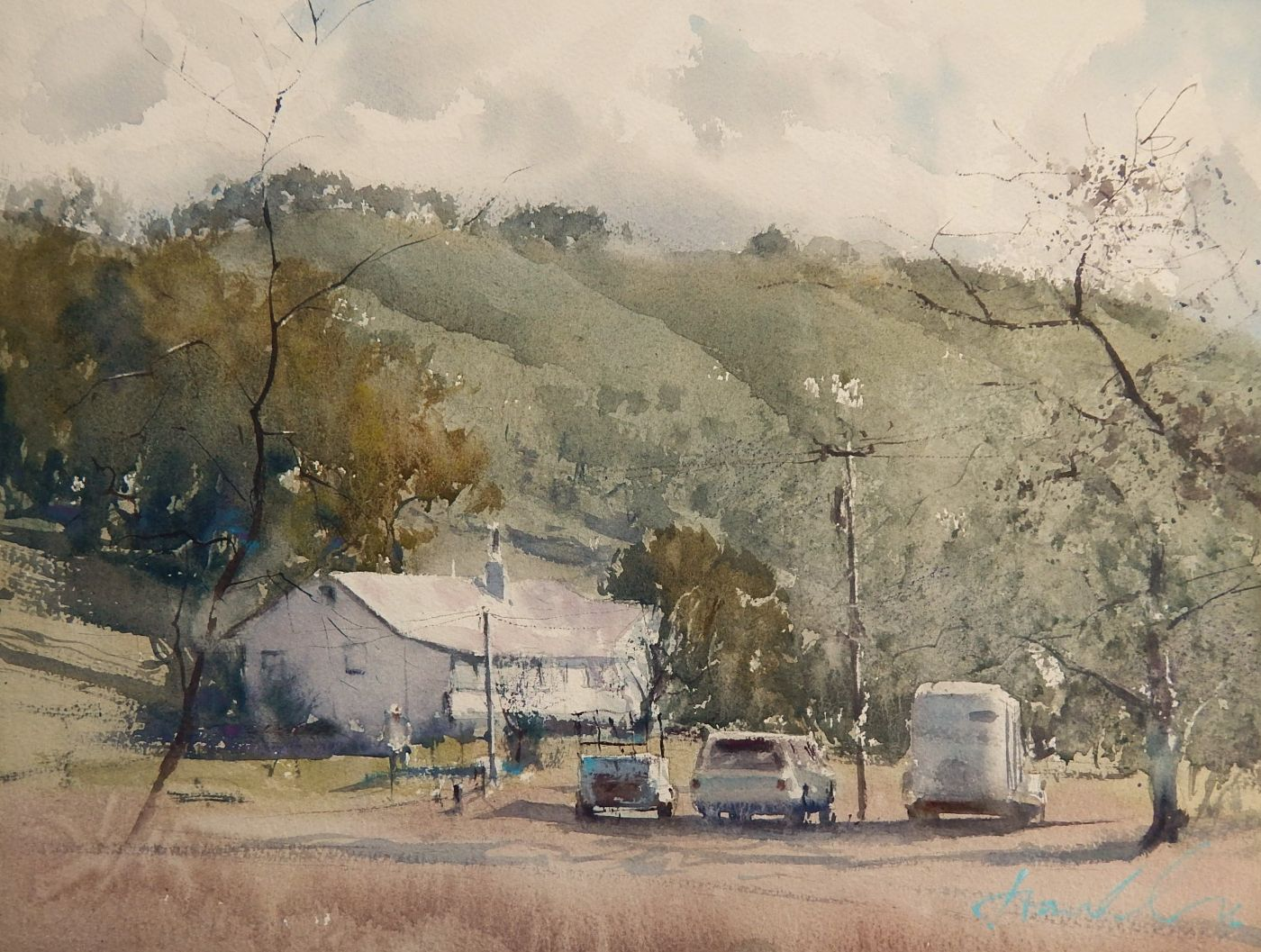 The Simple Life By Frank Eber 12x16 Watercolor Watercolor