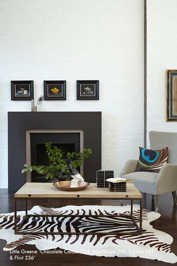 Chocolate and Flint Little Greene Paints Pinterest Living room