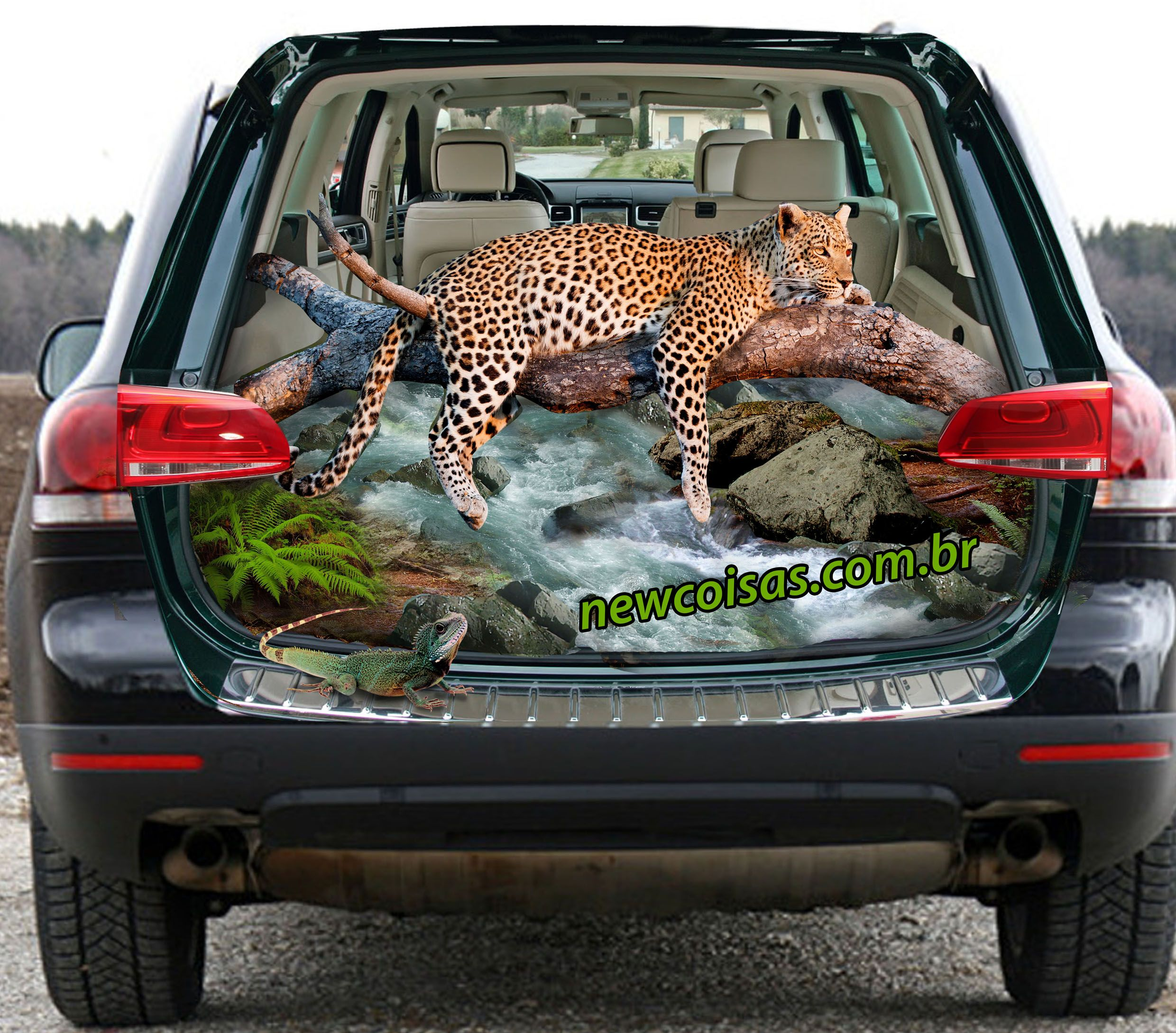 3d car stickers leopard