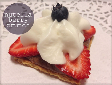 Nutella Berry Crunch #treats #4thofJuly