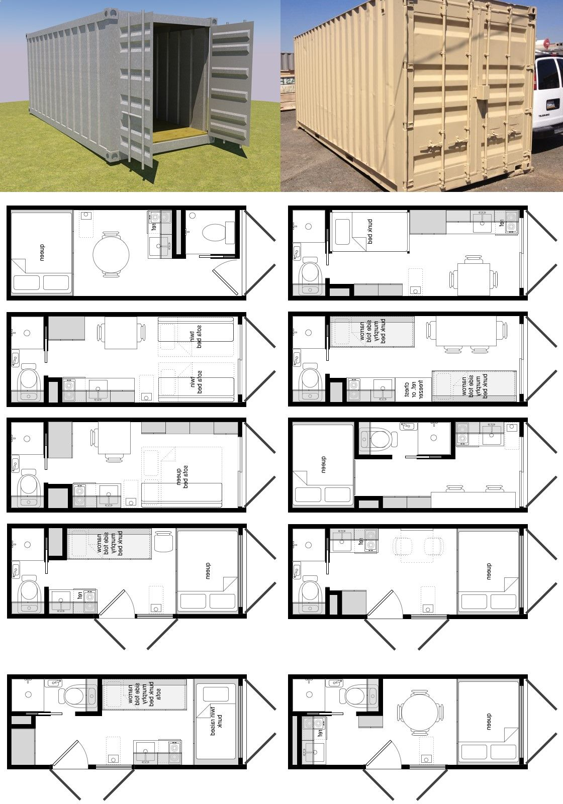 Best Kitchen Gallery: Container House 20 Foot Shipping Container Floor Plan Brainstorm of Shipping Container Floor Plan Designs on rachelxblog.com