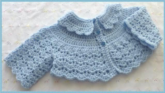 free crochet patterns for baby bolero - Google Search | Vêtements ...