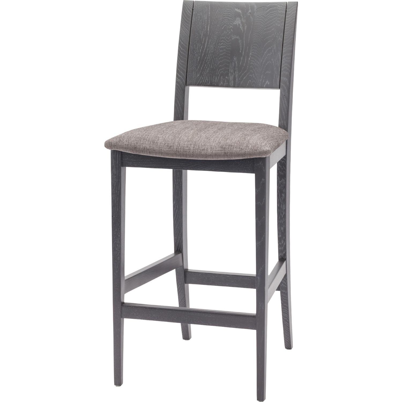 Eska Counter Stool In Dark Grey Fabric Grey Oxidized Oak By