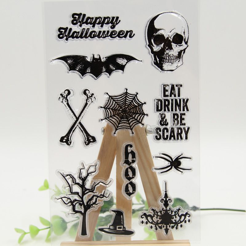 """Cheap Aliexpress Stamps """"Halloween Stamps"""" - Happy Halloween Transparent Clear Silicone"""