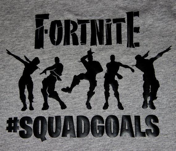 fortnite t shirt back to school birthday gaming squad goals t shirts - fortnite squad goals shirt