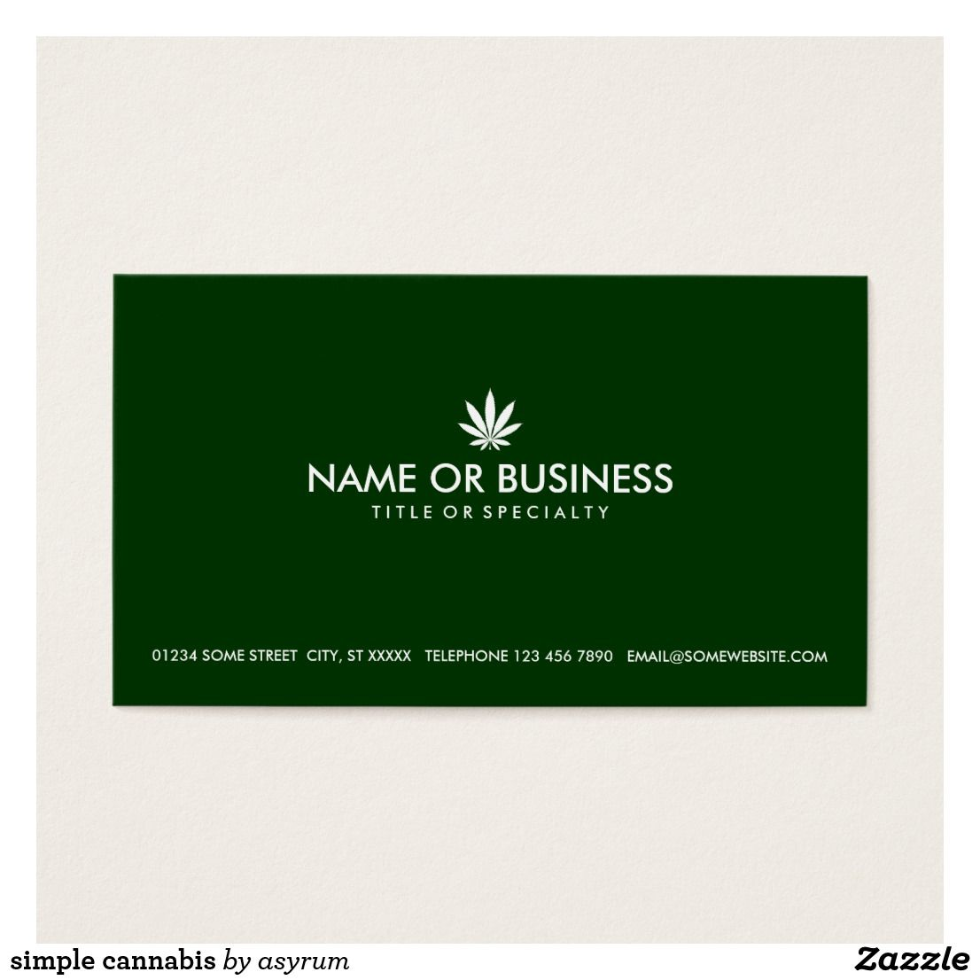 Simple Cannabis Business Card