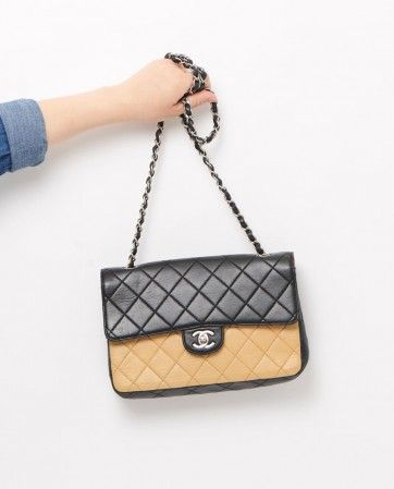 a0a7dce350b6 vintage chanel bi colour two tone classic bag gallery | 2.55 CLASSIC ...