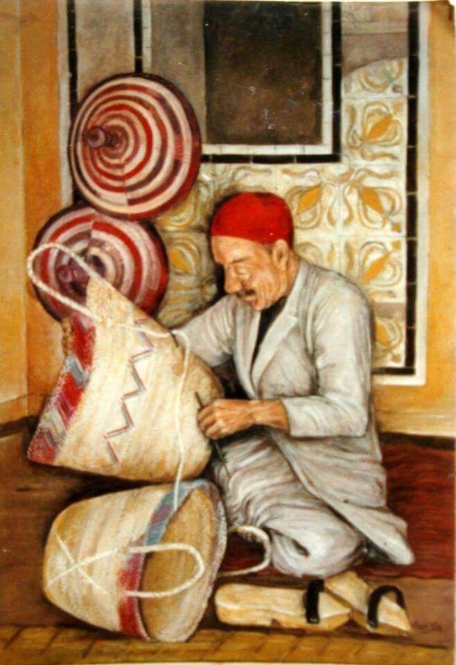 Peinture tunisienne   Peinture tunisienne, Peindre un tableau, Peinture multicolore