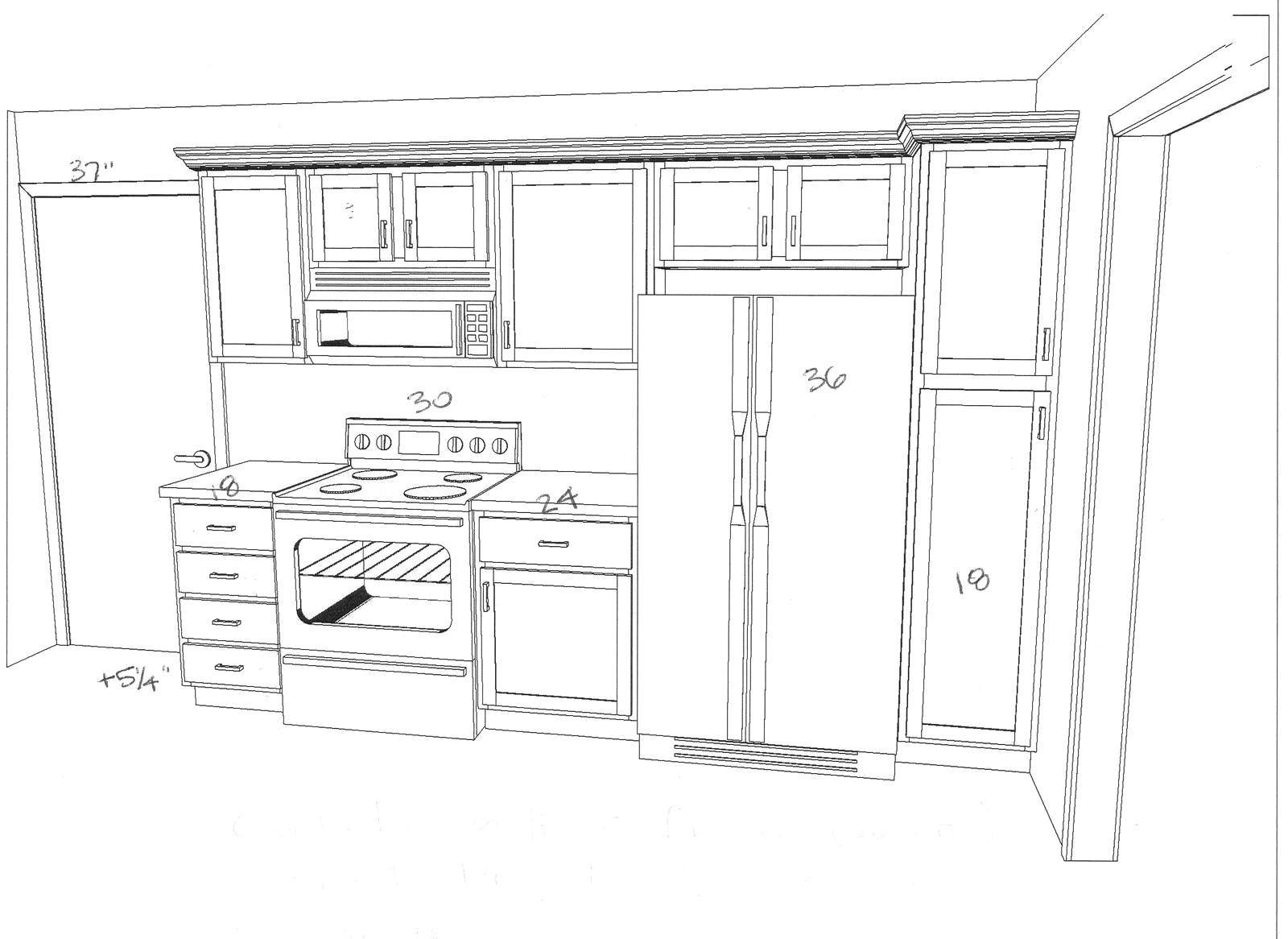 Wonderful Kitchen Floor Plans Island Design Ideas One Wall