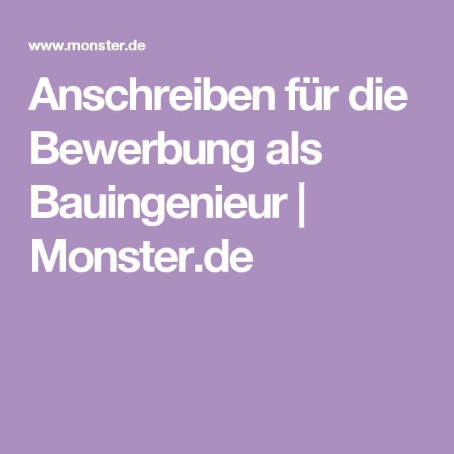 Anschreiben Fur Die Bewerbung Als Bauingenieur Monster De Anschreiben Bewerbung Bauingenieur