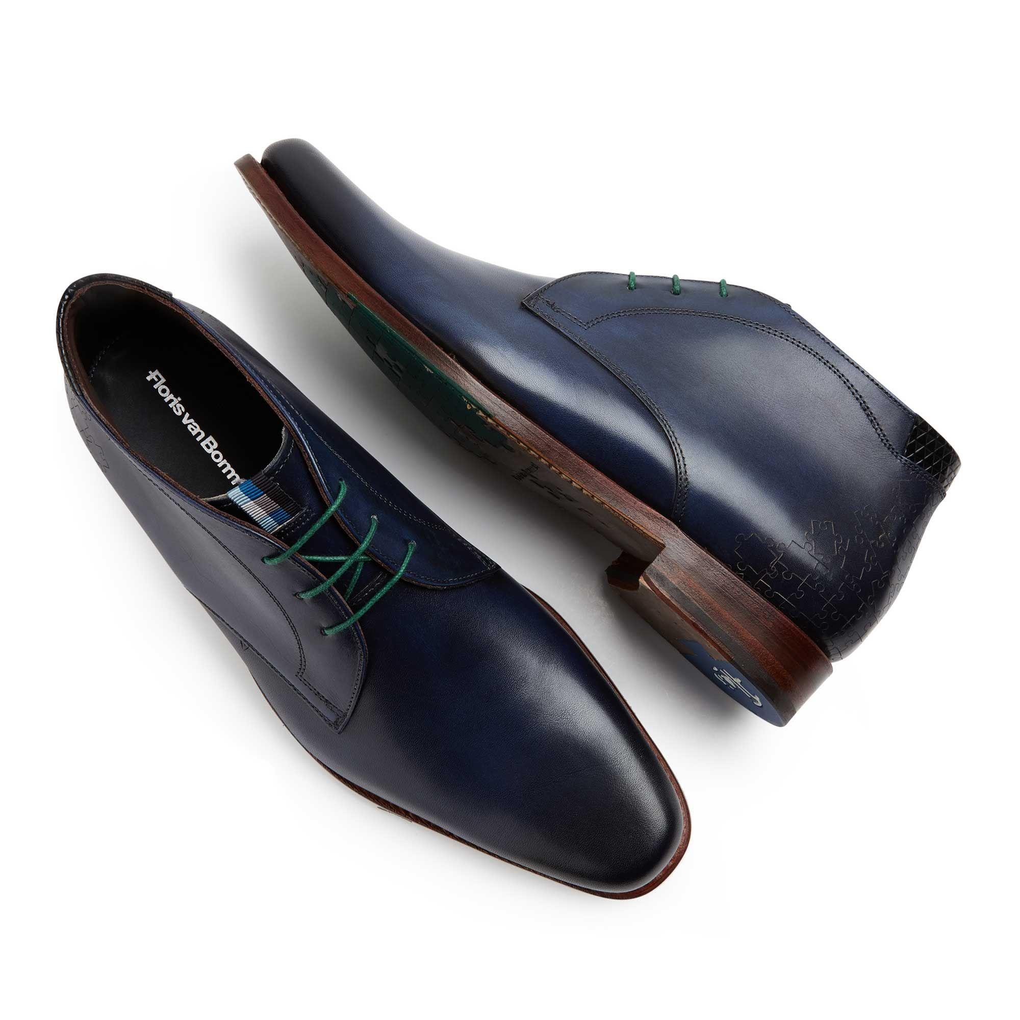 9e6ac8f0a8 10897 02 - Floris van Bommel dark blue leather men s lace boot ...