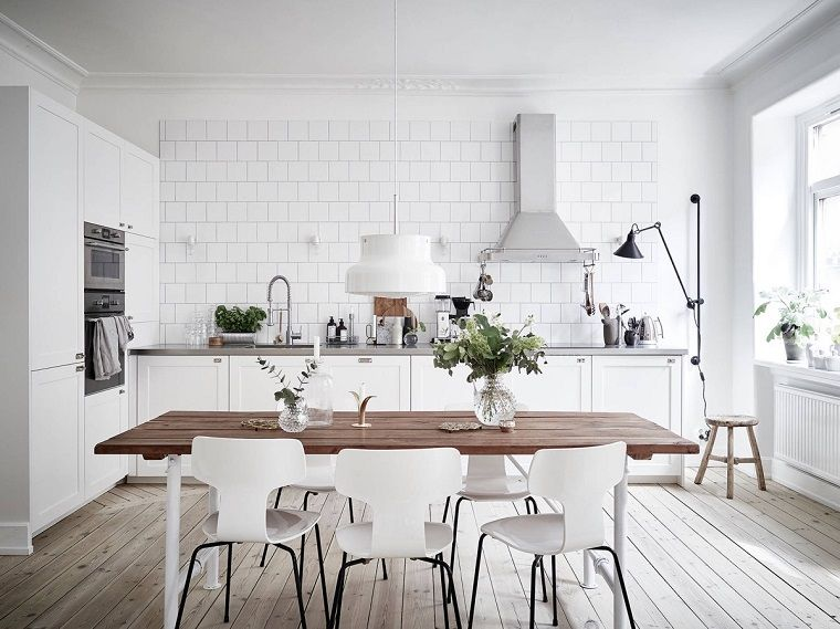 Floor-kitchen-Scandinavian-parquet Light | Floors nel 2019 ...