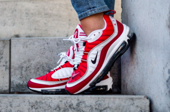 Nike Virgil Abloh's The Ten Off White Max 98 'Gym Red' Top Deals