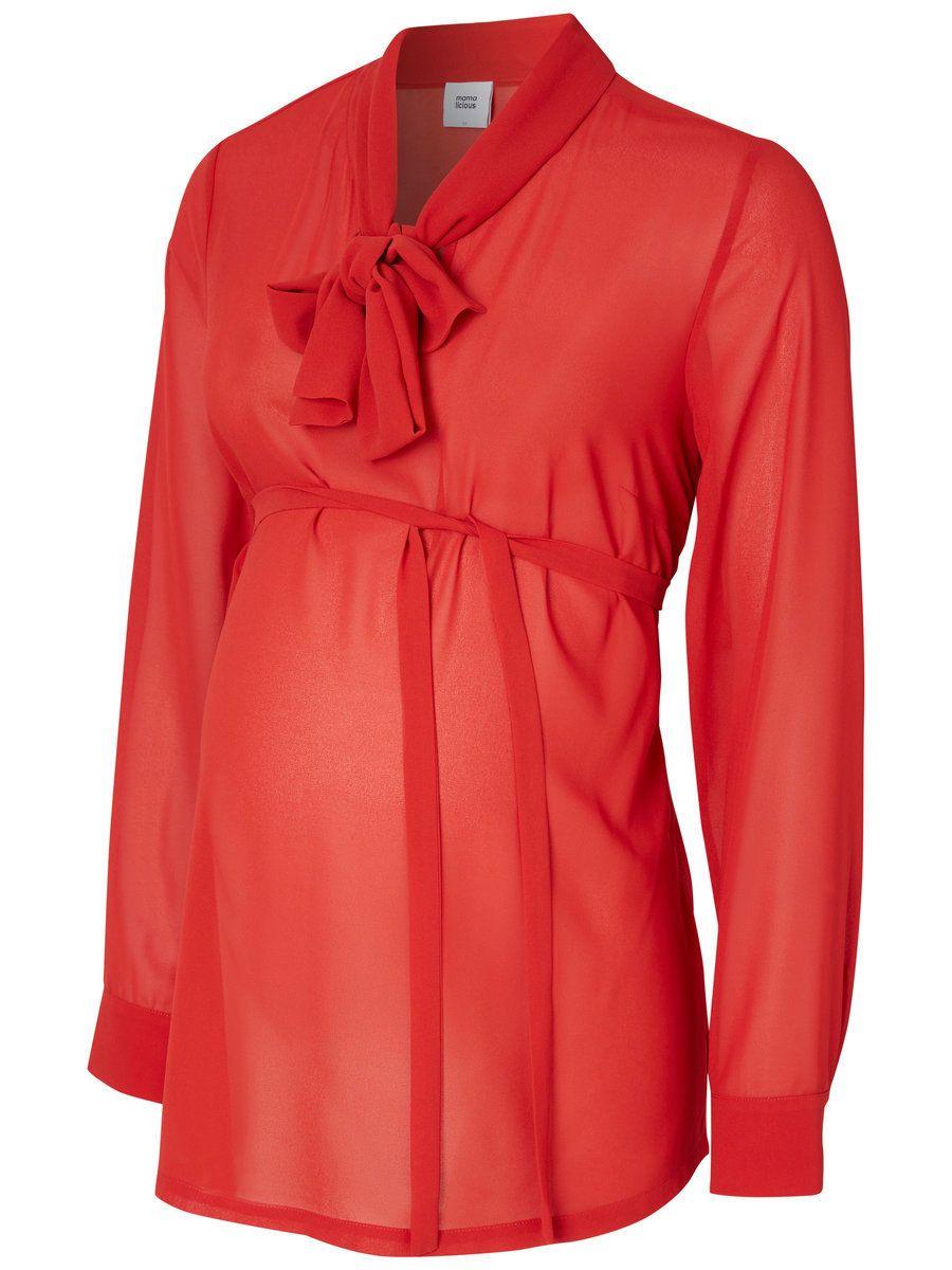 Beautiful red maternity shirt from MAMALICIOUS.