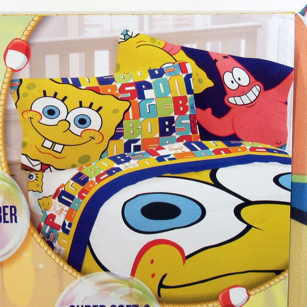 Twin Sheet Set Spongebob Microfiber Nickelodeon 3piece