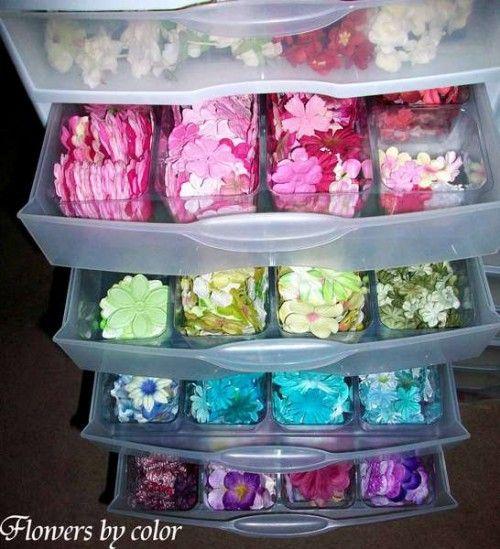 Storage Solution Roundup {Flowers} | Craft Storage Ideas