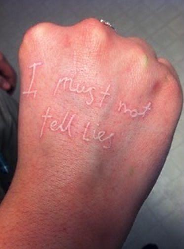 Harry Potter - I must not tell lies.  #nerd