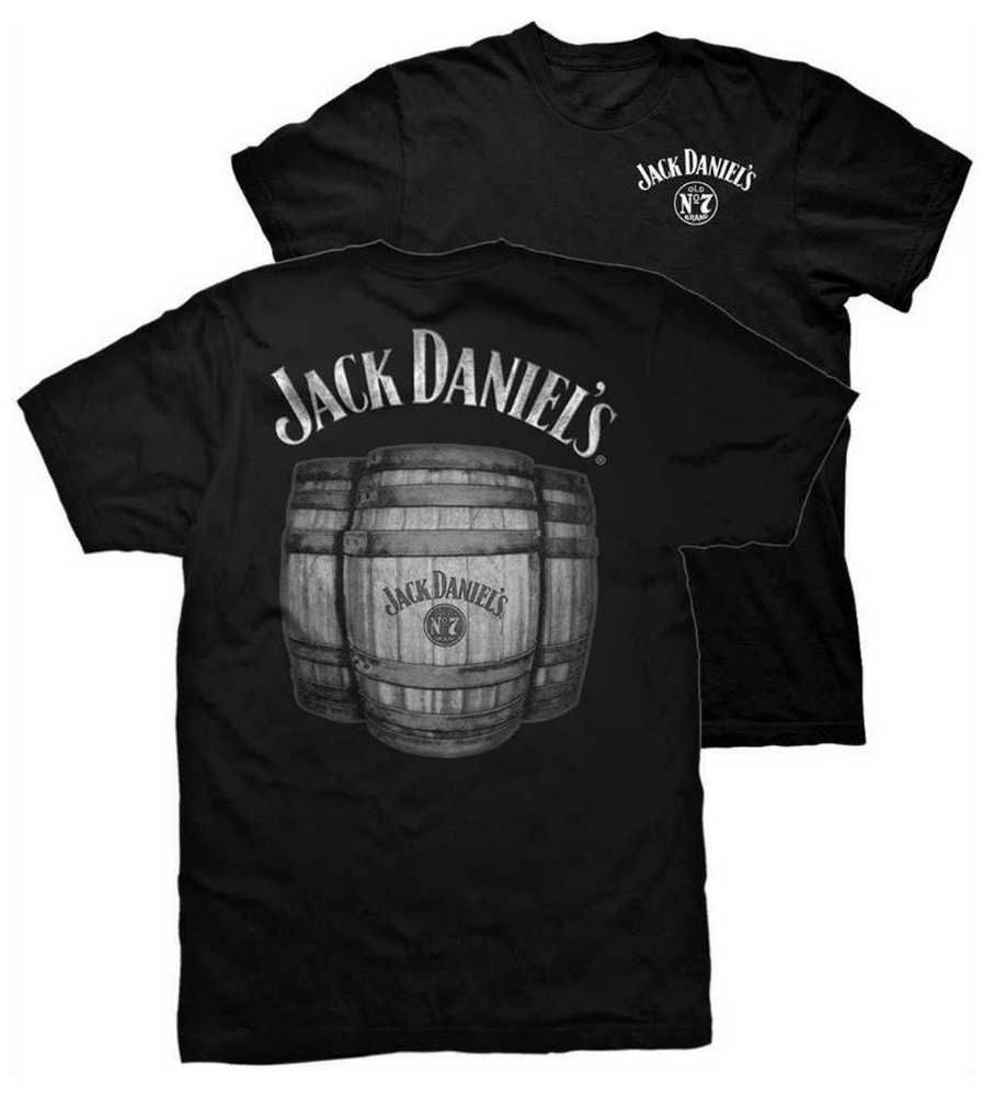Jack Daniels Men's No. 7 JD Barrel Short Sleeve T-Shirt - Black 33261458JD